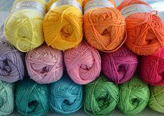 15 bolas de colores de arco iris de hilados de por CrochetObjet