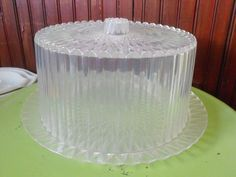 Vintage  Clear Cut Acrylic Cake Saver by peacenluv72 on Etsy