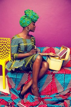Hi Guys, Over the past few years I had started to hate how African print fabric was being presented. I hated that every designer (mostly in Ghana) felt the need to identify with the fabric. But then I walked into a fabric shop in Makola with a friend and me being the child I am got blown away by the colours.