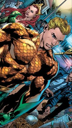 Aquaman & Mera. Perfect power couple.