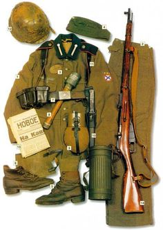 Uniform, weapons and equipment of a private of the 'Russkaya Osvoboditel'naya Armiya' (ROA) - Russian Liberation Army - also known as 'Vlasov's Army', Military Diorama, Military Art, Military History, Ww2 Uniforms, German Uniforms, Military Uniforms, German Soldiers Ww2, German Army, Special Forces