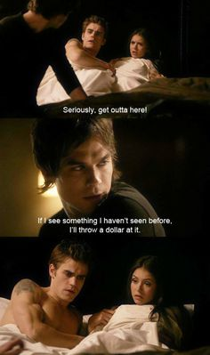 the vampire diaries tumblr quotes | Damon, Elena, and Stefan