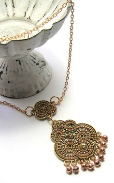 Champagne  Pendant Necklace  Handmade Necklaces by SwankyJewels - 38 euro