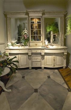 Image detail for -Master Bath Designs - Master Bath - Cabinetry Chic Bathrooms, Dream Bathrooms, Beautiful Bathrooms, Modern Bathroom, Bath Design, Design Bathroom, Bathroom Interior, Kitchen And Bath, Sweet Home