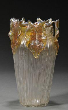 ❤ - Loetz    Gloria Art Nouveau Glass Vase Iridescent glass Austria, ca. 1906.