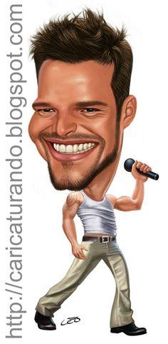 RICKY  MARTIN  by Caricaturas de Musicos/Cantantes - Taringa!