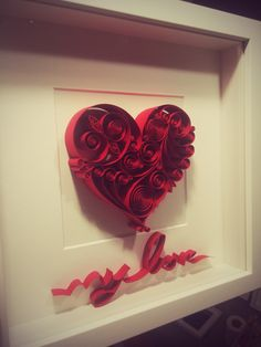 Quilling Paper Art #My Love #Heart