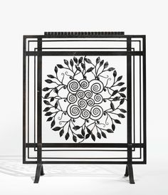 wrought iron fire screen by Edgar Brandt, ca 1925
