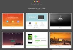 12 in 1 - Bootstrap Landing Themes by Agile UI on @creativemarket