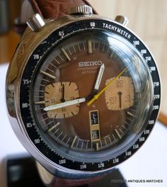 VINTAGE SEIKO BULLHEAD 6138 0040 CHRONOGRAPH AUTOMATIC WATCH MENS ALL ORIGINAL