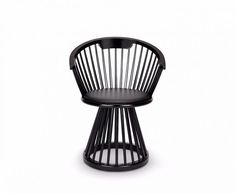 Originally a dramatic and sculptural take on a British design classic, Fan is available as a high back chair, dining chair, stool and table. The stools and chairs have a black leather seat pad, while the chairs feature a curved back, offering support and comfort. Available in Black Birch or Natural Oak.</p>