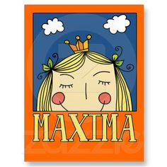 Koningin Maxima Girly Kaart #koninginnedag #holland #nederland #koningsdag #oranje