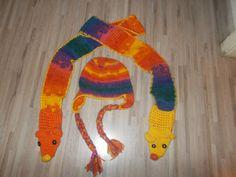 Κασκόλ με τσέπες-μαριονέτες / crochet puppet scarf