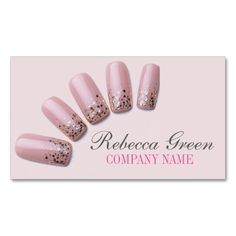 modern fashion girly beauty salon nail artist Double-Sided standard business cards (Pack of 100). This is a fully customizable business card and available on several paper types for your needs. You can upload your own image or use the image as is. Just click this template to get started!