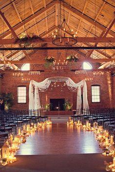 Rennie   Dawn - Brooke Courtney Photography / Ceremony Wedding / Candles / DIY / Cork Factory Hotel