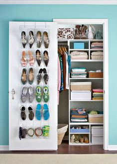 Single-Door Closet Redo. perfect for hall closet