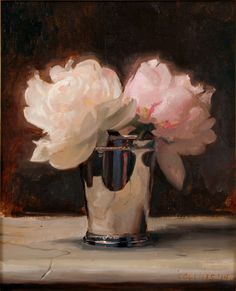 jacob collins | Jacob Collins: Peonies in a Silver Cup