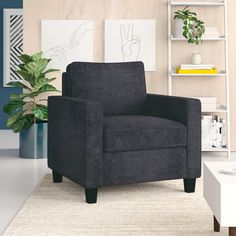 online shopping for Somerville Armchair Zipcode Design from top store. See new offer for Somerville Armchair Zipcode Design Barrel Chair, Sit Back And Relax, Tufting Buttons, Upholstered Dining Chairs, Club Chairs, Recliner, Loveseat Sofa, Couches, Contemporary Style