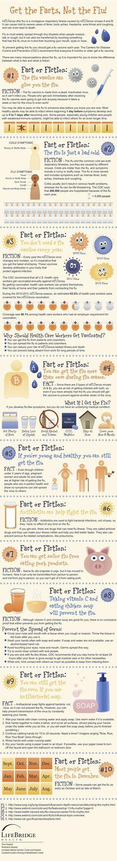 American flu infographic