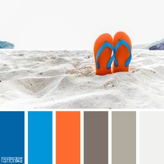 Color Palette: Blue, Orange and Sand. If you like our color inspiration,