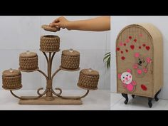 Jute Crafts, Storage Organization, Minis, The Creator, Craft Ideas, Amazing, Youtube, Craft, Cardboard Furniture