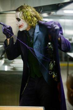 Heath Ledger as the Joker from Batman The Dark Knight Batman Robin, Le Joker Batman, Harley Quinn Et Le Joker, Der Joker, Superman, Batman Hero, Joker Art, Heath Joker, Heath Legder