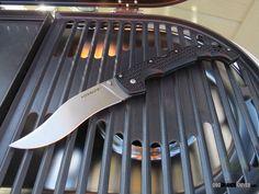 Cold Steel XL Voyager Vaquero Folding Knife (5.5 Inch CTS-BD1 Stonewash Plain Blade) Grivory Handles 29TXCV | OsoGrandeKnives