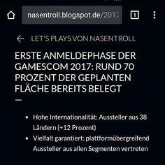 """Gefällt 2 Mal, 1 Kommentare - Tobias Schindegger (@schindegger) auf Instagram: """"Erste Anmeldephase der gamescom 2017: ca. 70% der geplanten Fläche bereits belegt.  #gaming…"""""""
