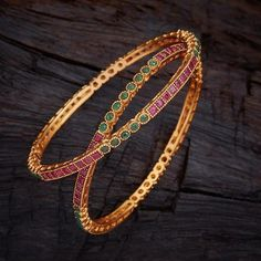 Shop From An Exclusive Collection Of Designer Bangles, Kadas & Bracelets For Women Online. Buy Silver & Bridal Bangles at Kushal's Fashion Jewellery. Buy Now. Plain Gold Bangles, Ruby Bangles, Gold Bangles Design, Bridal Bangles, Gold Jewellery Design, Silver Bracelets, Bangle Bracelets, Real Gold Jewelry, Aztec Jewelry