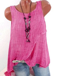 Sleeveless Back Patchwork Hollow O-Neck Shirts For Women Cheap - NewChic Mobile