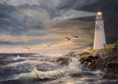 Marblehead Lighthouse Ohio At Sunset Poster By Gina Femrite