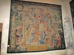 16th cent.Tapestry of the of Annunciation in the palais du Tau in Reims (Marne, France).