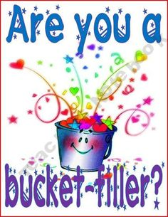 Are You a Bucket Filler Sign