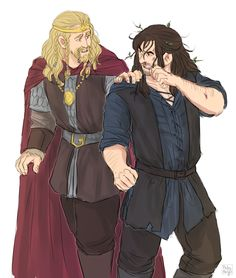 """Kili! Kili, are you alright-"" ""I'm fine! I don't need your help! Let me teach this Dwarf a lesson!"""