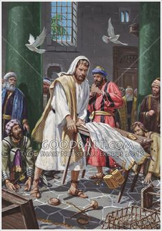 """And he taught, saying unto them, Is it not written, My house shall be called of all nations the house of prayer? but ye have made it a den of thieves."" KJV Mark 11:17  Jesus Cleansing the Temple  The Providence Collection"