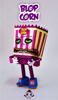 Blog Paper Toy papertoy Blop Corn Jip Hey pic Blop Corn de Jip Hey!
