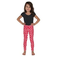 181c9521aace8 Snowflake Kid's Leggings 2T-7, Christmas Leggings, Red Leggings, Holiday  Leggings, Snowflake Leggings Girls, Dance Pants, Gymnastics Pants