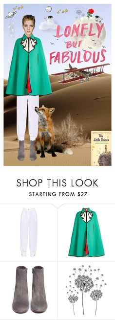 """""""Lonely but fabulous"""" by thymagine ❤ liked on Polyvore featuring Alexis Mabille, Gucci, Vince, Emma Watson, jcp, Forever 21 and Hartmann"""