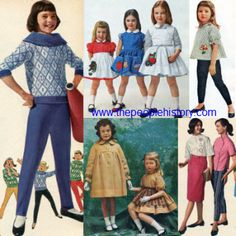 1960s clothing for kids | Vintage 1960s Children's Fashion Clothes
