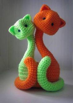 Вязаные котики, сладкая парочка. Обсуждение на LiveInternet - Российский Сервис Онлайн-Дневников