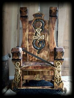 Viking throne
