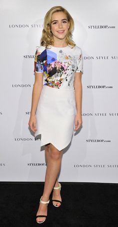 Kiernan Shipka is pretty in Preen