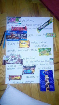 dárek pro dědu dárek pro dědečka Food Art, Back To School, Diy And Crafts, Birthday Cards, Presents, Good Things, Paper, Ha Ha, Gifts