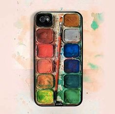 Verf & Kwast Hoesje #paint #verven #kunst I want this one!