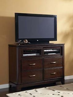 Boulevard Media Chest by CORT Furniture Rental -- #organize your home #tv