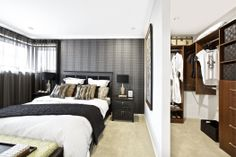 Clarendon Homes.  The Sheridan Series. Master bedroom with walk-in robe.