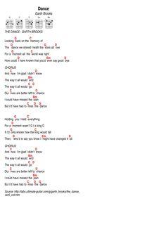Dance, by Garth BrooksThe Dance, by Garth Brooks Ukulele Songs Beginner, Easy Guitar Songs, Uke Songs, Music Guitar, The Dance Chords, Guitar Chords And Lyrics, Song Lyrics, Breaking Benjamin, Papa Roach