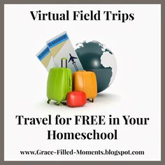 Have you discovered virtual field trips for your #homeschool yet? I've created a list of wonderful links to help you #travel for free with virtual field trips in your homeschool!