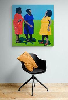 Shakes Tembani: After The Service: fine art | StateoftheART African Art, Canvas Size, Contemporary Art, Original Paintings, Fine Art, Gallery, Artwork, Artist, Work Of Art