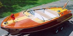 Restored Chris Craft Capri wooden runabout